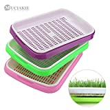 2018 Hot Sale MUCIAKIE 3 Sets 2-Layer Nursery Trays for Bean Sprouts Seedling Tray Dishes Wheat Seedlings Nursery Pots Home Plant Tools