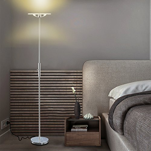 Sunllipe Torchiere Led Floor Lamp18w Standing Lamp With Remote
