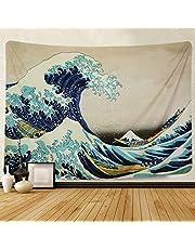 """Amkun, Arazzo, Da parete, Stampa della """"Grande onda"""" di Kanagawa, Decorazione domestica, Per il soggiorno o la camera da letto, Adatto anche come telo da spiaggia"""