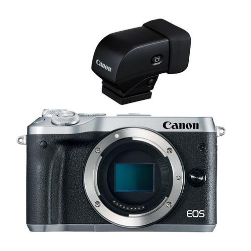 Canon EOS M6 Mirrorless Digital Camera Body, Silver - With E