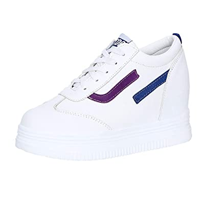81d3ed74804c6 Amazon.com | T-JULY Girl Lace Up Height Increasing Vulcanized Shoes ...