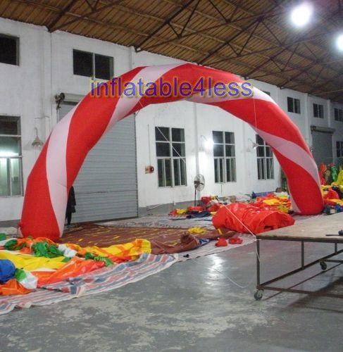 inflatable4less 30ft Candy Cane Inflatable Arch Archway Made-to-Order