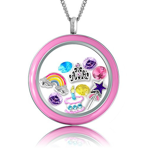 Necklace Birthday Birthstone Floating Necklaces