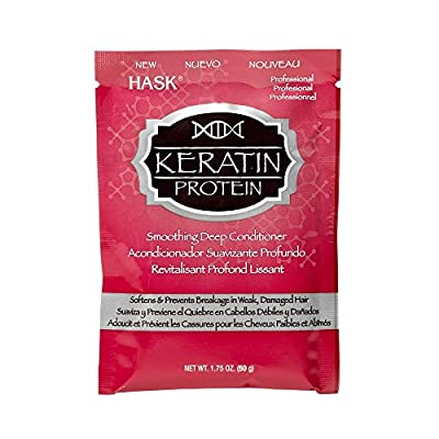 Hask Keratin Protein Smoothing Deep Conditioning Treatment Packet, 1.75 Ounce