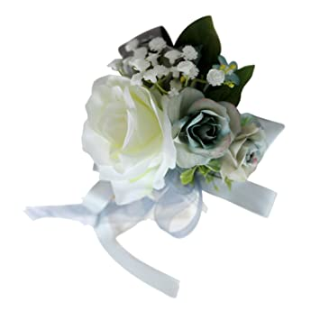 2 Autoschleifen Antennenschleifen Schleifen Hochzeit Deko Grün Weiß Rose Band