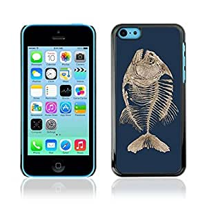 Colorful Printed Hard Protective Back Case Cover Shell Skin for Apple iPhone 5C ( Fishbone Fish Skeleton )