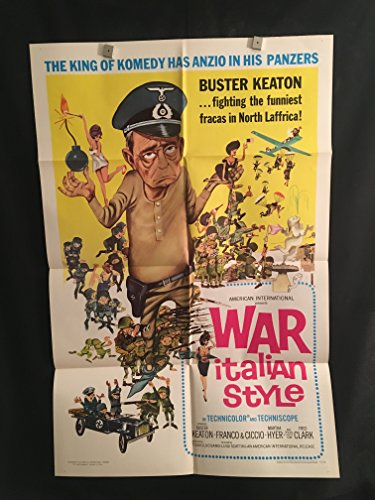 War Italian Style 1966 Original Vintage One Sheet Movie Poster, Buster Keaton