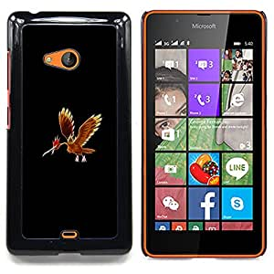 - Poke Mosnter Red Phoenix/ Hard Snap On Cell Phone Case Cover - Cao - For Microsoft Nokia Lumia 540 N540