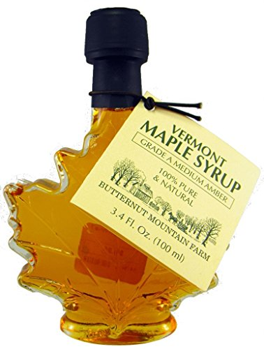 Butternut Mountain Medium Amber Leaf 3.4 Oz Bottle Vermont Maple Syrup