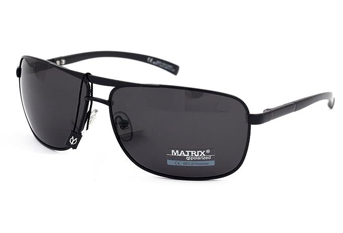 Matrix - Gafas de sol polarizadas para hombres conductores, pesca, deporte, lentes de color gris claro, sin brillo, marco de metal