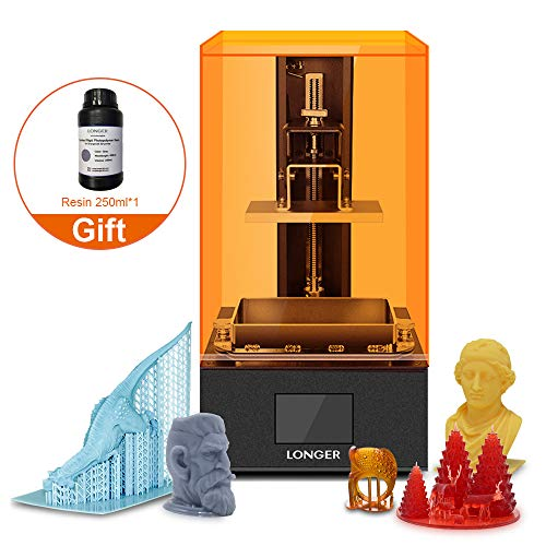 "UV LCD 3D Printer Orange 10,SLA Resin 3D Printer with 2.8-inch Full Color Touch Screen Off-line Print Build Volume 3.86""(L) x 2.17""(W) x 5.5""(H)"
