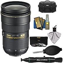 Nikon 24-70mm f/2.8G AF-S ED Zoom-Nikkor Lens with Case + 3 Filter + Kit for D3200, D3300, D5300, D5500, D7100, D7200, D750, D810 Cameras