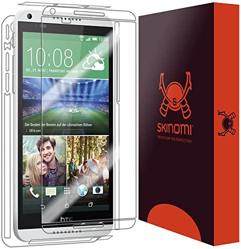 Screen Protector + Back Cover Skinomi Full Body Skin Protector Compatible with HTC Desire 816 TechSkin Full Coverage Clear HD Film