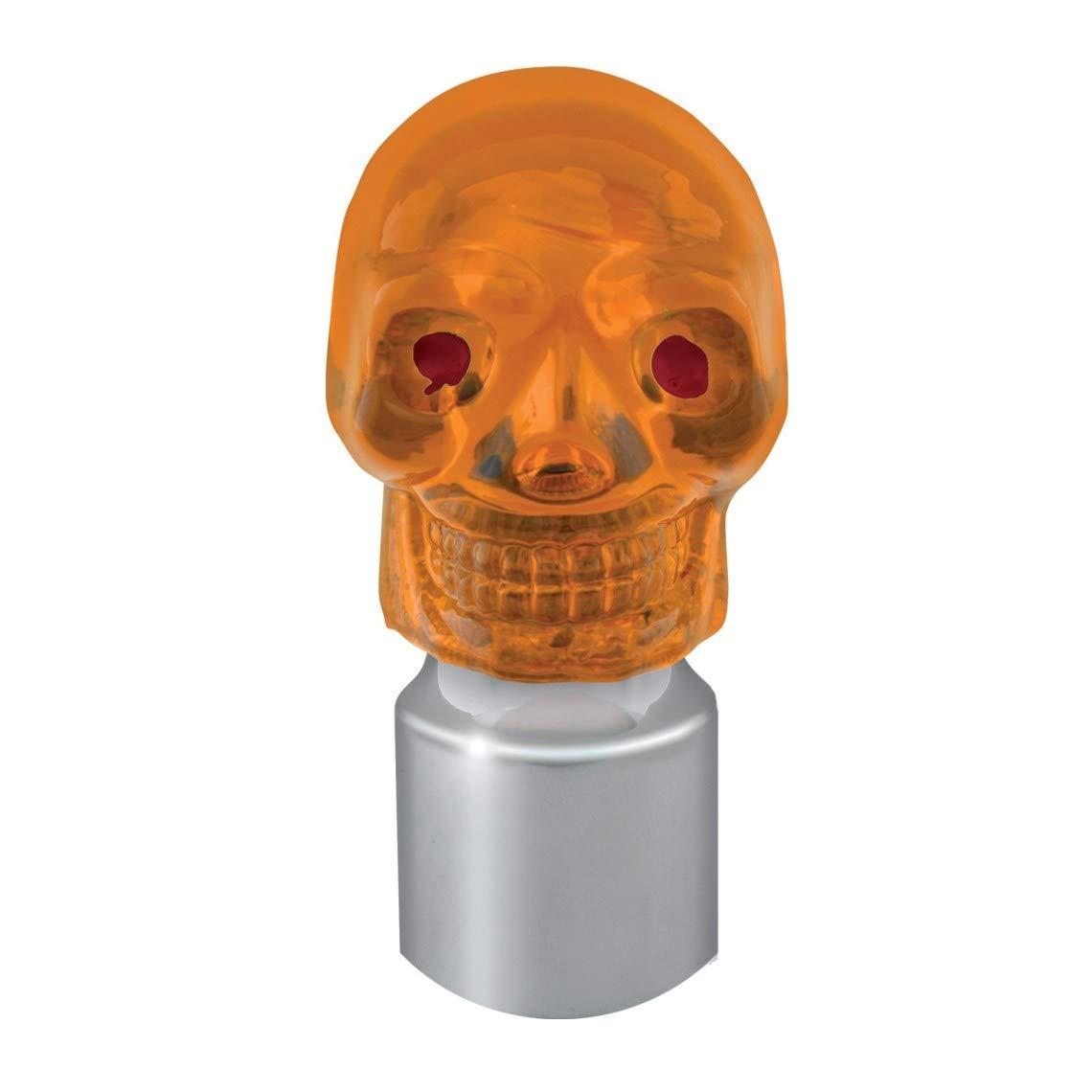 GG Grand General 94490 Chrome 7//8 I.D Cap /& Amber Plastic Skull for 7//8 Inches Bumper Guide