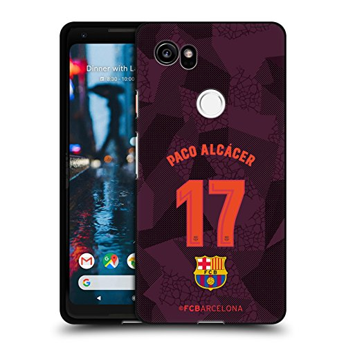 Official FC Barcelona Paco Alcácer 2017/18 Players Third Kit Group 1 Black Soft Gel Case for Google Pixel 2 XL