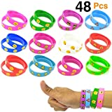 O'Hill Emoji Wristband Silicone Emoticons Bracelets for Kids and Adult Birthday Party Supplies Favors Prize Rewards