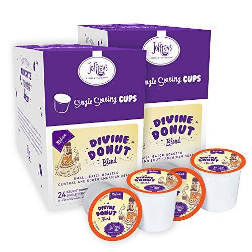 Joffrey's Coffee – Divine Donut Blend, Coffee Blend, Artisan Medium Roast, Arabica Coffee Beans, Well-Balanced Blend…