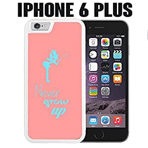 iPhone Case Never Grow Up for iPhone 6 PLUS Plastic White &hong hong customize