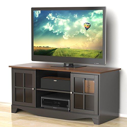 Pinnacle 54-inch TV Stand 101225 from Nexera - Cinnamon-Cherry and Black