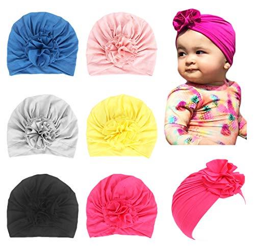 - LHTHZHY Baby Hat Girl Newborn Beanie Cute Soft Cotton for Infant Girl Turban Cap (TZ-6B (6pcs))