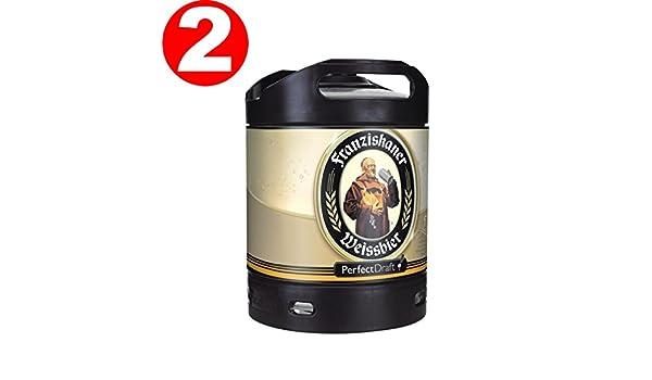 2 x Franziskaner Perfect Draft Weissbier barril de cerveza de trigo 6 litro 5,0% vol.: Amazon.es: Alimentación y bebidas