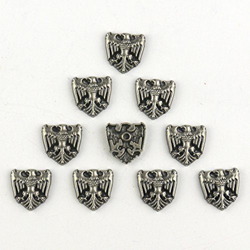 [Lieomo Leathercraft 10pcs Saddle Conchos Rivet-Eagle Punk] (Eagle Concho)