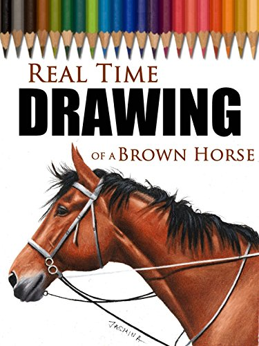 Real Time Drawing of a Brown Horse by