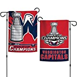 #9: WinCraft Washington Capitals Stanley Cup Hockey Champions Double Sided Garden Flag