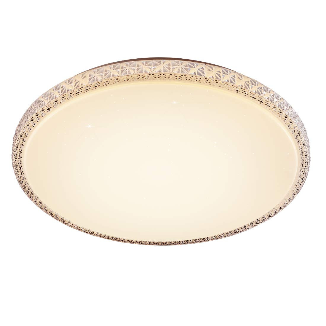 """CORSO 20"""" LED Starlight Flush Mount LED Ceiling Lights Round Fixture, Extra Large Modern Close to Ceiling Lamp for Residential/Commercial, 48W(250W Equivalent) 3000K Warm White, Plastic Crystal Finish"""