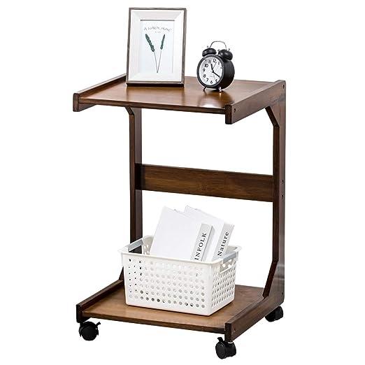 Mesa auxiliar de madera en forma de U para café, aperitivos ...
