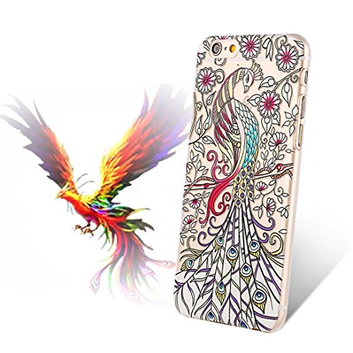 Price comparison product image iphone6s Case,  Kpopbaby Peacock Black Flower Plastic Case Cover Skin for iPhone 6s / 6 4.7inch