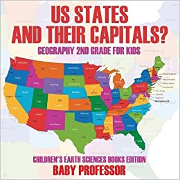 US States And Their Capitals: Geography 2nd Grade for Kids ...