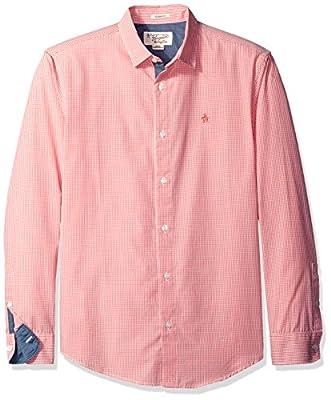 Original Penguin Men's L/S Gingham Shirt-Classic Fit