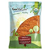 Organic Red Split Lentils by Food to Live (Dry Beans, Non-GMO, Kosher, Raw, Masoor Dal, Bulk) — 5 pounds