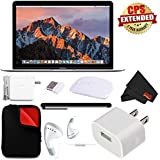 Apple 12 MacBook (Mid 2017, Silver) #MNYJ2LL/A + Microfiber Cloth + Padded Case MacBook Bundle