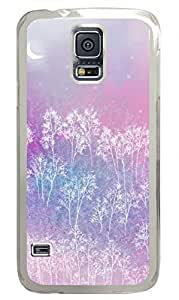 Romantic Pink Tree Clear Hard Case Cover Skin For Samsung Galaxy S5 I9600
