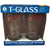 Set of 2 Russia 2018 Logos FIFA World Cup Trophy-glass - The Soccer's Fan Drinkware