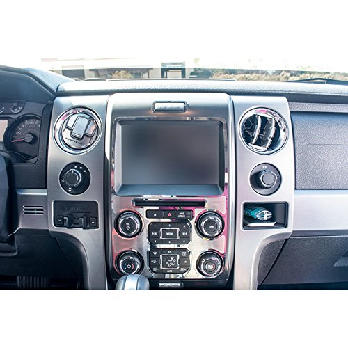 Stainless Steel Center Dash - Upgrade Your Auto Polished/Brushed Stainless Steel Center Dash Trim for 2010-14 Ford F-150 Raptor