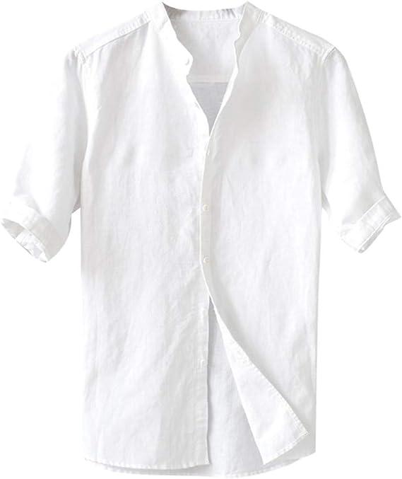 Overdose Camisas Hombre Japonesa Informal Half Sleeve ...