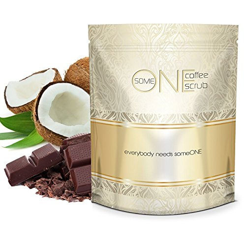 someONE Cacao Coconut Anti Cellulite Kona Coffee Scrub with Dead Sea Salts - 24 Ounces