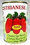 Strianese D.O.P. San Marzano Tomatoes 14 Oz Can Pack of 6
