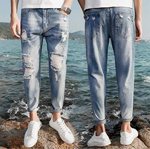 Especial Pantaloni Estilo Hellblau Del Strappato Allentati Nuovi Denim Jeans I Di Casuali Retro Modo Hanno Dei Strappati 1q0f8xz