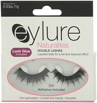 eba324191fc Amazon.com : Eylure Naturalites Double Lashes 205 by Eylure : Beauty