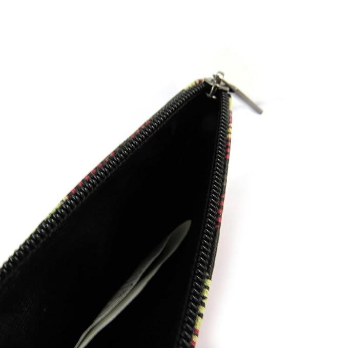 Monederos de cuero Mundinegro rojo (escocés)- 12x7.5 cm ...