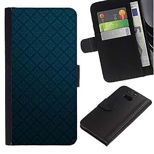 iBinBang / Flip Funda de Cuero Case Cover - Textura azul de los diamantes - HTC One M8