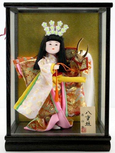 5号舞踊人形八重垣姫木製枠ガラスケース飾り   B00FGKHZCK