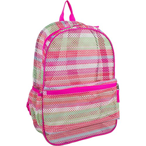 School Backpack. This Mesh Cute Rucksack, Knapsack, Haversack Bag Suitable For Kids, Teens & Adults. Best For Carry On, Books & All School & Study Supplies. W/ Padded Adjustable Straps. - Go To Camping Needed Things