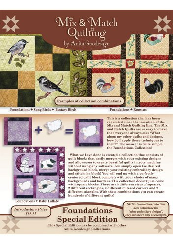 (Anita Goodesign Embroidery Machine Designs CD FOUNDATIONS SPECIAL)