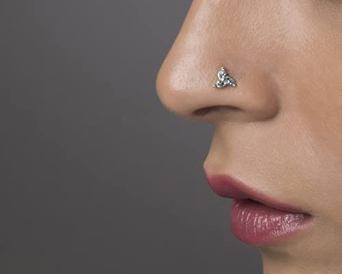 sterling silver nose studs nose jewellery statement nose piercing unique nose stud Tribal nose stud nose pin indian nose stud