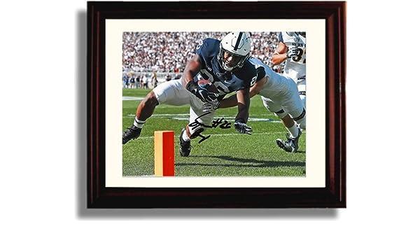 Framed Penn State Saquon Barkley On The Run Autograph Replica Print